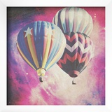 Pink Balloons In Space Art by Ashley Davis