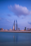 Bahrain, Manama, Bahrain Bay, View of Bahrain World Trade Center Photographic Print by Jane Sweeney