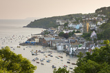 The Cornish Town of Fowey on the Fowey Estuary, Cornwall, England. Summer Photographic Print by Adam Burton