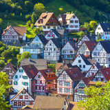Traditional Half Timbered Buildings in Schiltach's Picturesque Medieval Altstad, Baden-Wurttemberg Photographic Print by Doug Pearson