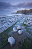 Rock Pools on Kilve Beach, Somerset, England. Summer Photographic Print by Adam Burton