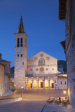 Duomo (Cathedral) in Piazza Del Duomo at Dusk, Spoleto, Umbria, Italy Photographic Print by Ian Trower