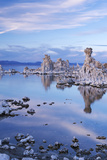 Tufa Towers in Mono Lake at Twilight, California, USA. Autumn (October) Photographic Print by Adam Burton