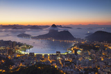 View of Sugarloaf Mountain and Botafogo Bay at Dawn, Rio De Janeiro, Brazil Photographic Print by Ian Trower