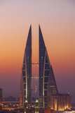 Bahrain, Manama, View of Bahrain World Trade Center Photographic Print by Jane Sweeney