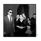 Elizabeth Taylor and Her Husband Richard Burton at a Party Photographic Print by Therese Begoin
