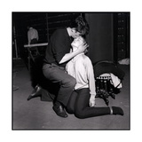 Alain Delon and Romy Schneider Kissing Photographic Print by Marcel Begoin