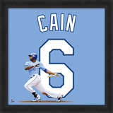 Lorenzo Cain, Royals Framed photographic representation of the player's jersey Framed Memorabilia