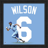 Willie Wilson, Royals Framed photographic representation of the player's jersey Framed Memorabilia