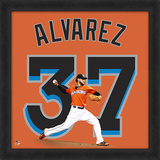 Henderson Alvarez, Marlins Framed photographic representation of the player's jersey Framed Memorabilia
