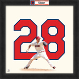Corey Kluber, Indians Framed photographic representation of the player's jersey Framed Memorabilia