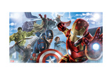 The Avengers: Age of Ultron - Iron Man, Thor, Hulk, Captain America, Hawkeye, Black Widow, Vision Print