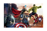 The Avengers: Age of Ultron - Captain America, Hulk, Iron Man, and Thor Posters