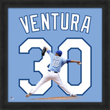 Yordano Ventura, Royals Framed photographic representation of the player's jersey Framed Memorabilia