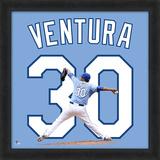 Yordano Ventura, Royals Framed photographic representation of the player's jersey Framed Memorabilia