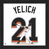 Christian Yelich, Marlins Framed photographic representation of the player's jersey Framed Memorabilia