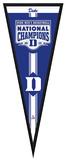 Duke Blue Devils 2015 NCAA Men's College Basketball National Champions Pennant Frame - No Glass Framed Memorabilia