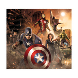 The Avengers: Age of Ultron - Thor, Hulk, Captain America, Hawkeye, Vision, Black Widow, Iron Man Plakater