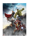 Thor, Hulk, Captain America, Hawkeye, and Iron Man from The Avengers: Age of Ultron Póster