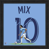 Mix Diskerud, New York City FC Framed photographic representation of the player's jersey Framed Memorabilia