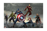 Thor, Hulk, Captain America, Hawkeye, Black Widow, and Iron Man from The Avengers: Age of Ultron Affiches