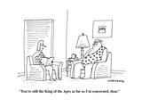 """""""You're still King of the Apres as far as I'm concerned, dear."""" - Cartoon Premium Giclee Print by Mick Stevens"""