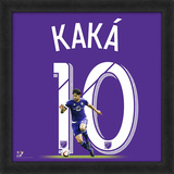 Kaka, Orlando City SC Framed photographic representation of the player's jersey Framed Memorabilia