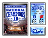 Duke Blue Devils 2015 NCAA Men's College Basketball National Champions Milestones & Memories Framed Memorabilia