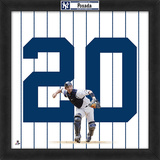 Jorge Posada, Yankees Framed photographic representation of the player's jersey Framed Memorabilia