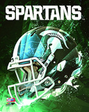 Michigan State Spartans Helmet Composite Photo