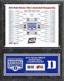 Duke Blue Devils 2015 NCAA Men's College Basketball National Champions Bracket Plaque Framed Memorabilia