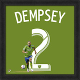 Clint Dempsey, Sounders Framed photographic representation of the player's jersey Framed Memorabilia