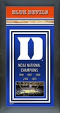 Duke Blue Devils 2015 NCAA Men's College Basketball National Champions Framed Championship Banner Framed Memorabilia