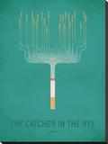 The Cather in the Rye_Minimal Impressão em tela esticada por Christian Jackson