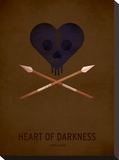 Heart of Darkness Stretched Canvas Print by Christian Jackson