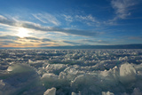 Ice Hummocks on the Frozen Lake Baikal Photographic Print by  katvic