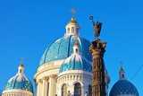 St. Petersburg. Dome of Trinity Cathedral and Column of Glory Photographic Print by  katvic