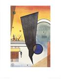 Gebogene Spitze Samlartryck av Wassily Kandinsky