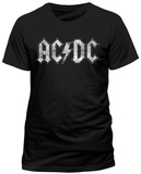 AC/DC - White Logo Distressed Skjortor