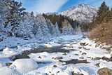 katvic - Mountain River in January Day. New Year's Vacation in the Nature - Fotografik Baskı