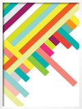 Spring Geometry Poster Posters by Patricia Pino