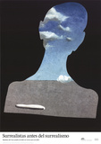Man with a Head Full of Clouds Print by Salvador Dali