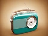 Vintage Radio Fotografisk trykk av  determined