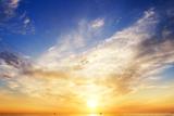 Sky Background and Water Reflection. Fotografisk trykk av Andrii Salivon
