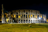 Colosseum in Rome by Night Full View Photographic Print by  stefano pellicciari