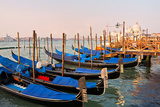 Italy. Venice in Morning. Gondolas near St. Mark's Square Photographic Print by  katvic