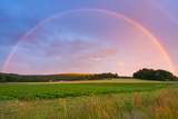Rainbow over Swedish Farm Field Photographic Print by Piotr Wawrzyniuk