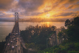 Sunset Between Storms, San Francisco Photographic Print