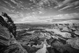 Classic Dead Horse Point in Black and White, Moab Utah Photographic Print