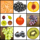 Collage of Fruit in Squares Photographic Print by  YellowPaul
